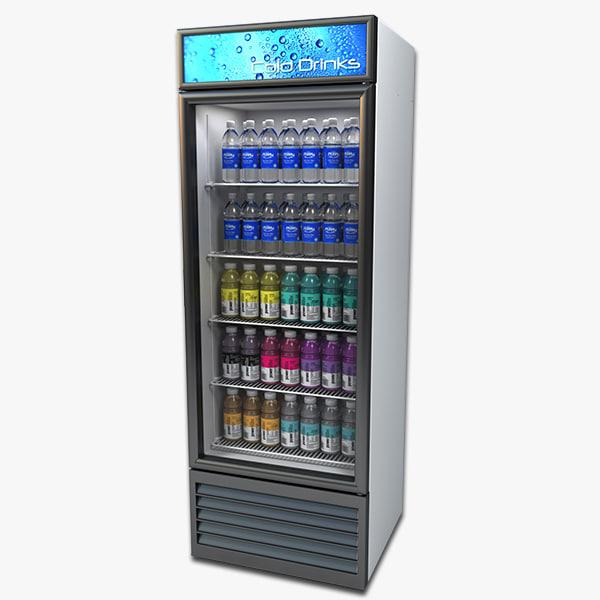 3d store cooler model