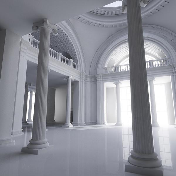 interior scene 3d model