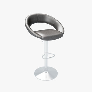 leather bar chair 3d model
