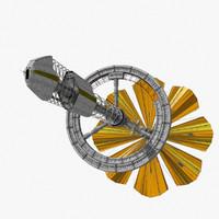3d concept solar sail ship