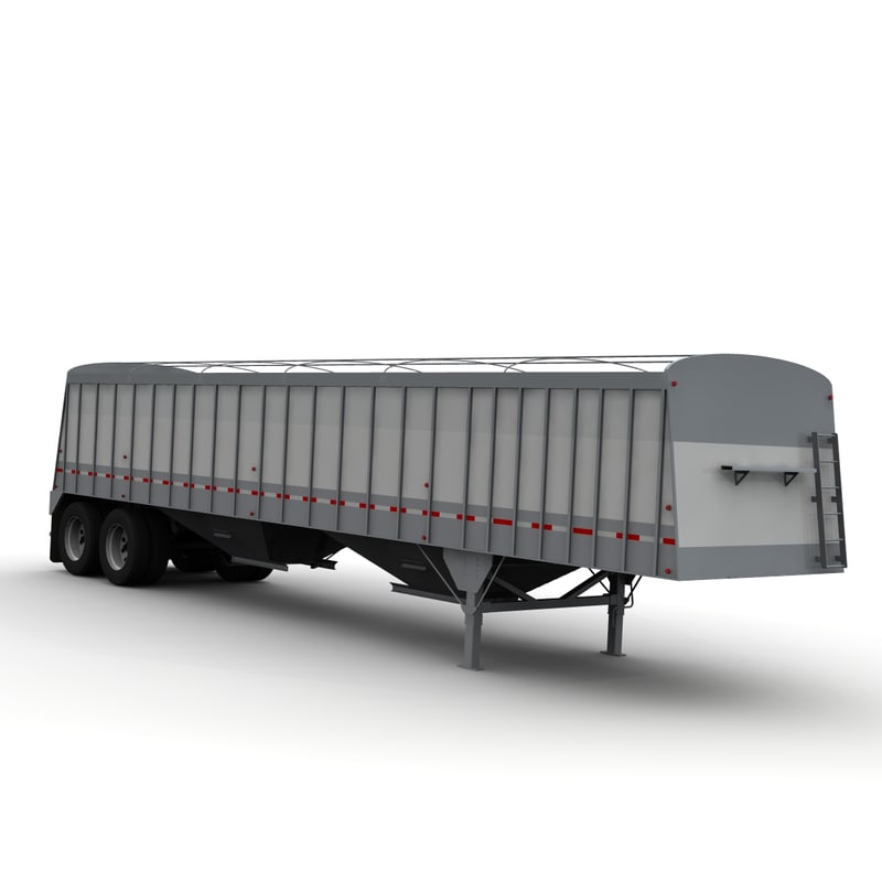 axle cornhusker grain trailer 3d model