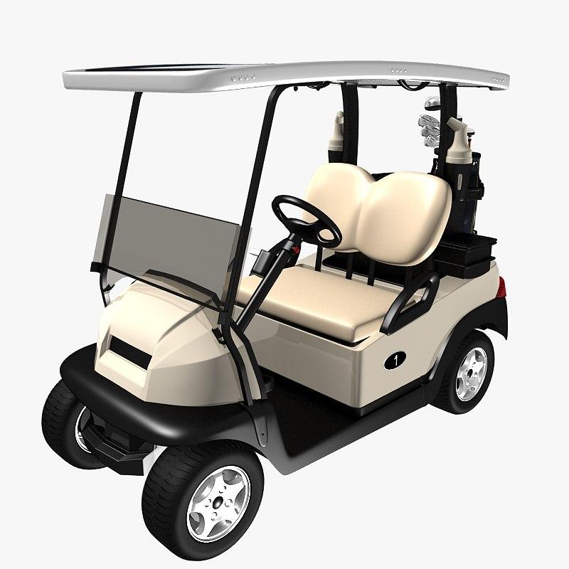 3d golf car cobra club