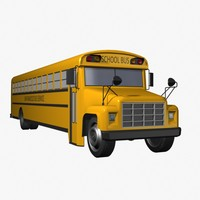 3d model of school bus