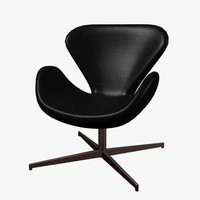 swan chair 3d 3ds