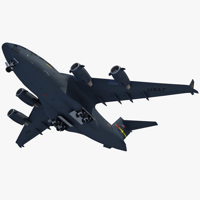 c-17 globemaster iii military transport 3d model