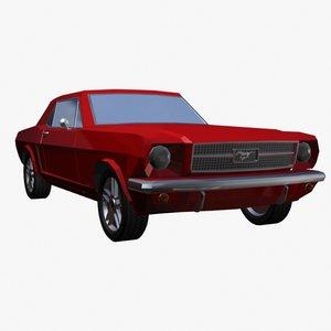 classic car 3d model