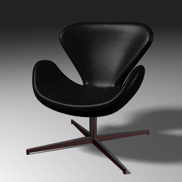 swan chair 3d 3ds
