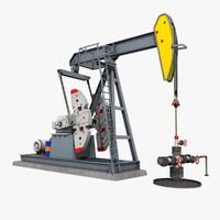 3dsmax oil pumpjack pump