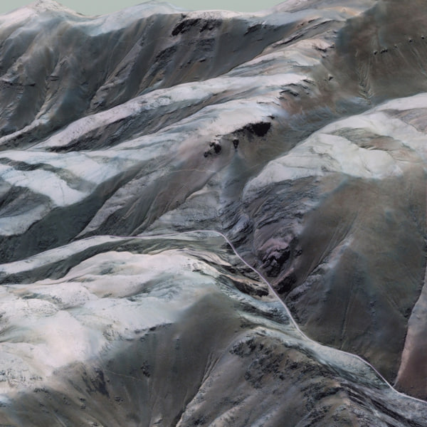 3d pass valley landscape model