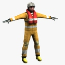 rescue worker 3D models