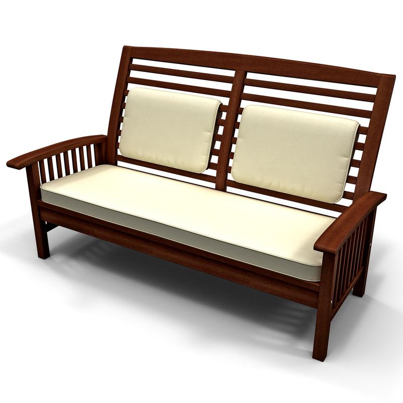 3ds max strathwood gibranta 2 seater