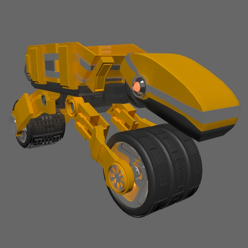 3ds max sci-fi transport