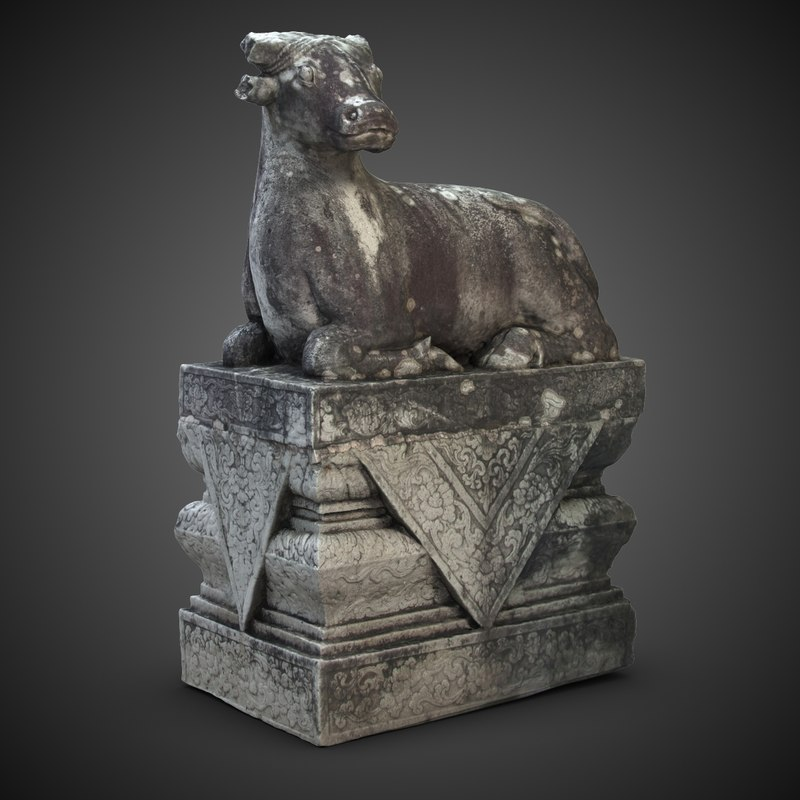 3ds max holy cow sculpture