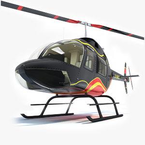 jet bell ranger helicopter 3d 3ds