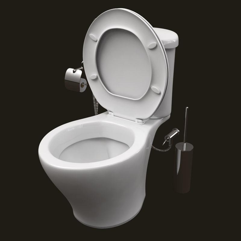 3ds flush toilet brush