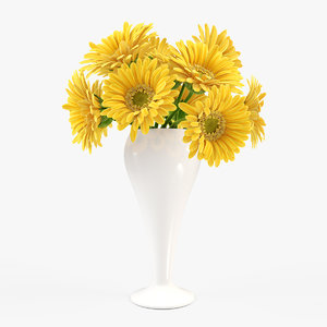 gerbera vase 3ds