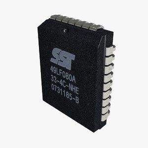 plcc-32 bios chip 3d lwo