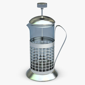 3ds max french press cup