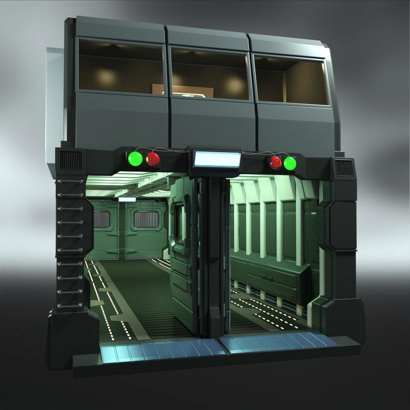 sci-fi gate 3d max