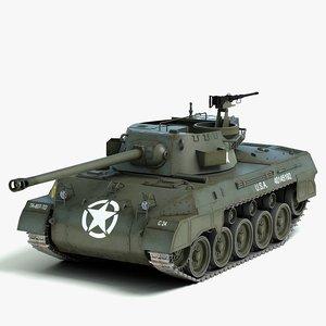 3d m18 tank destroyer hellcat model