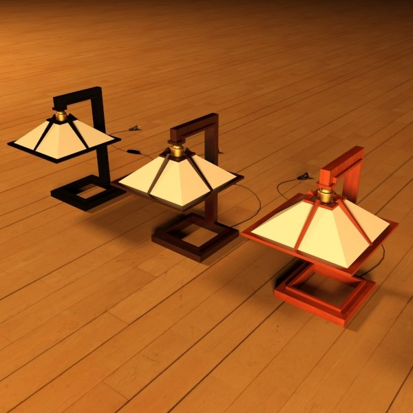 3d model taliesin mini table lamps