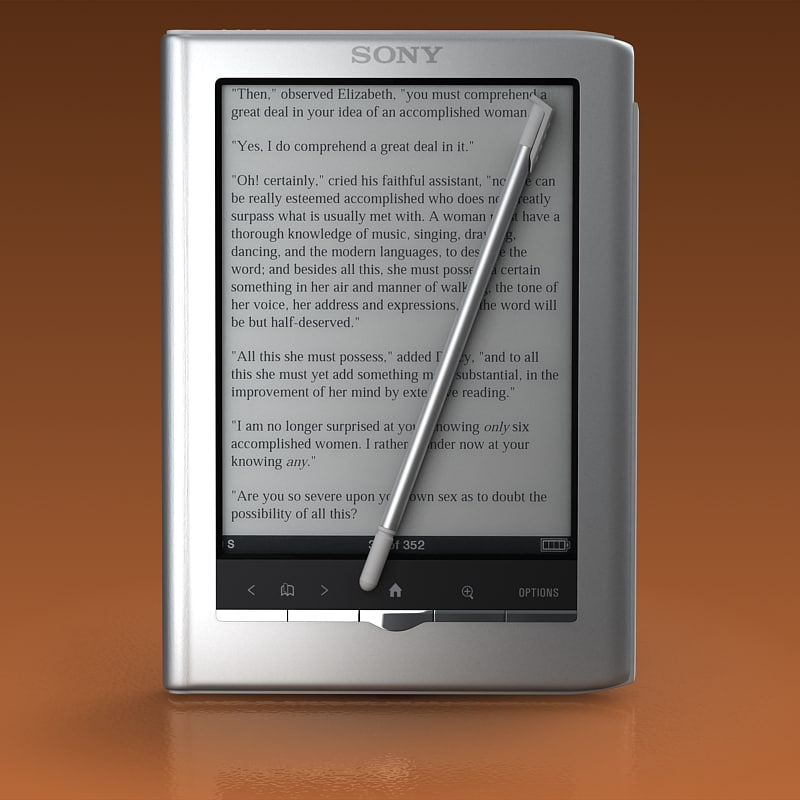 sony reader prs 3d model