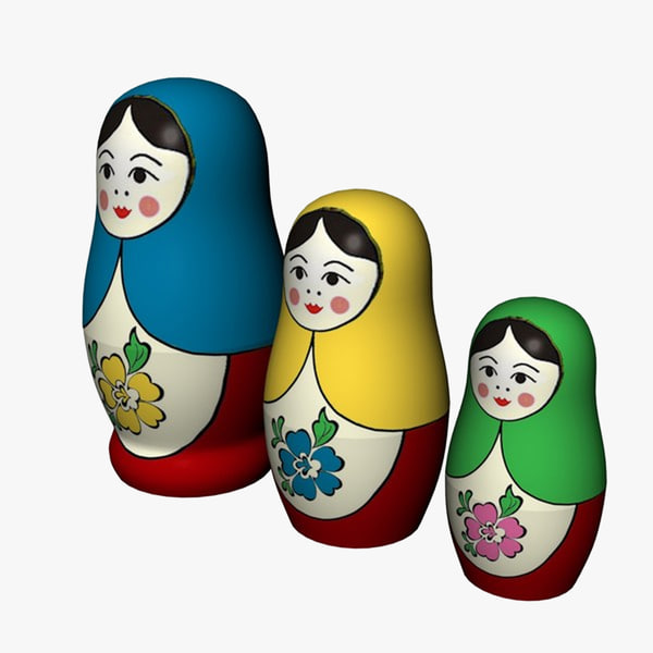 3d model russian nested dolls
