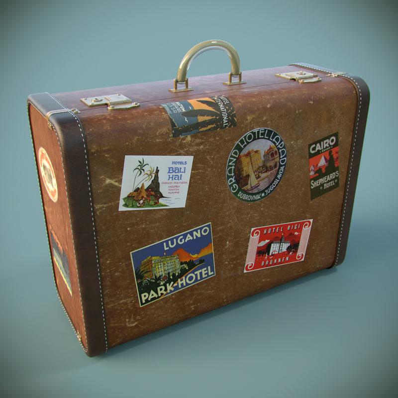 max old big suitcase