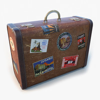 max old big suitcase