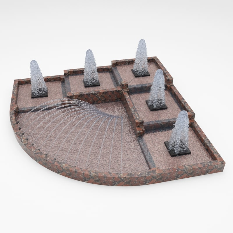 3d model fountain 8