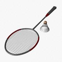 3d badminton racket