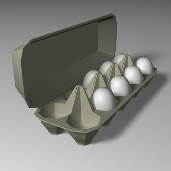 egg carton 3d model