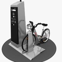 3d model bixi bike