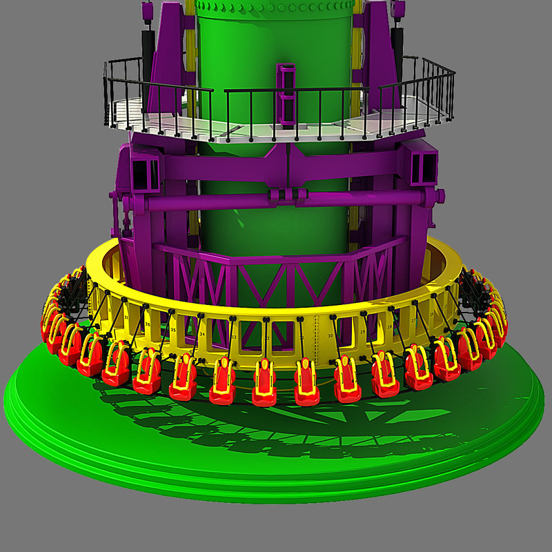 drop tower 3d dxf