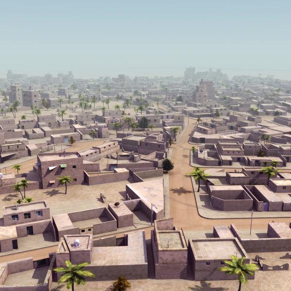parametrically arab city suburb 3ds