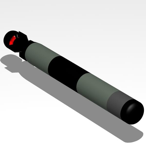 lightweight torpedo 3d model