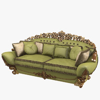 Riva Mobili d Arte 7663 Luxury Baroque Tufted Sofa