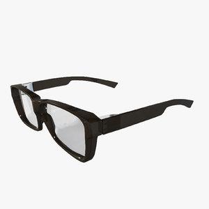 3d model eyeglasses