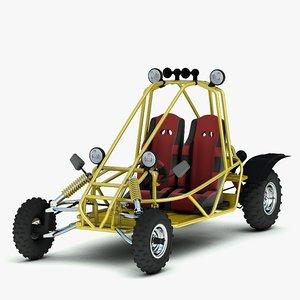 desert buggy kart 3d model