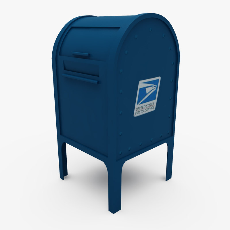 polygonal mail box street 3d model