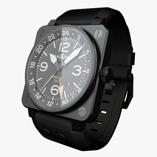 3d model bell ross 01-93 watch