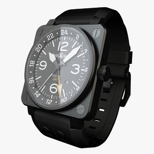 3d model bell ross 01-93 watch