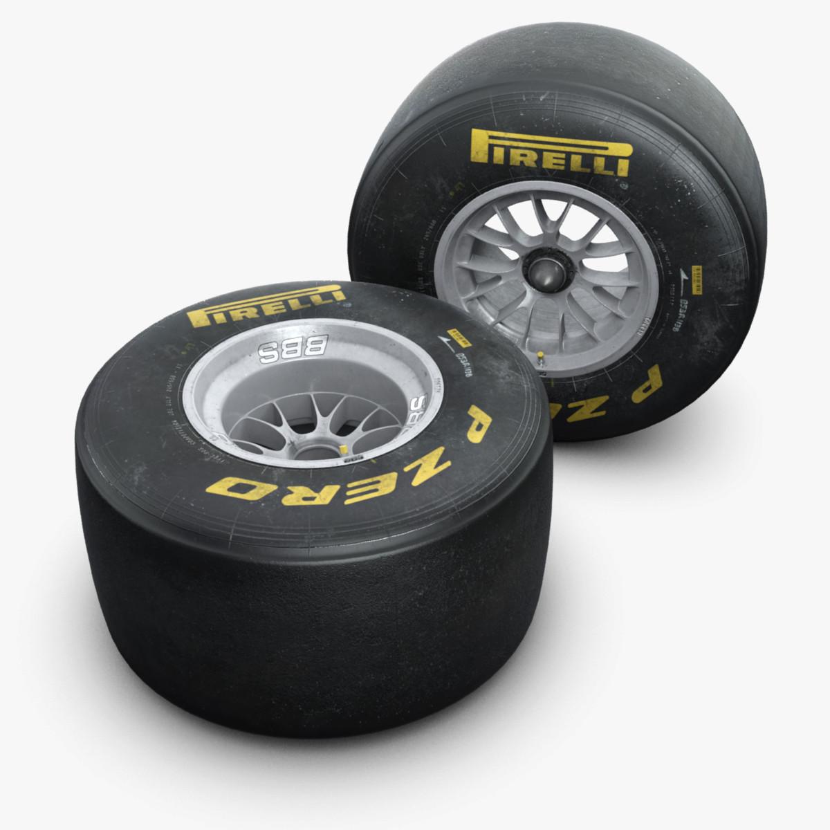 2011 formula 1 wheels 3d model