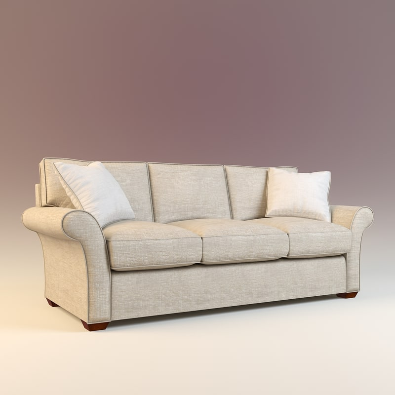 3d sofa modeled model