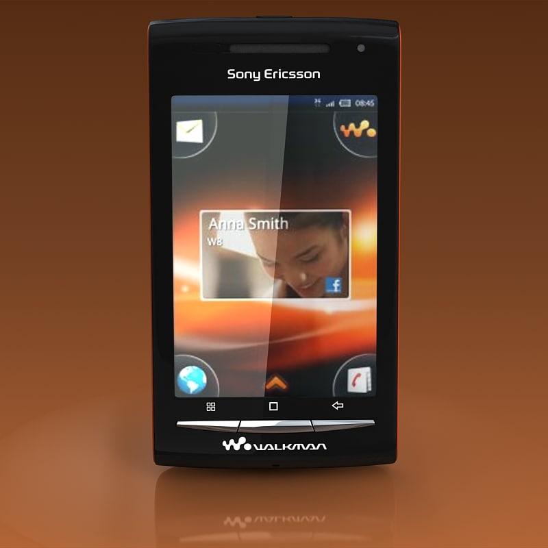 3d sony ericsson w8 model