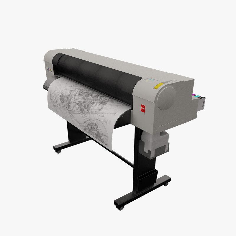 oce cs9050 plotter 3d model