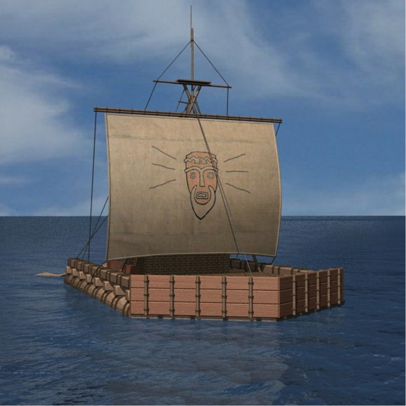 Kon Tiki Raft Model