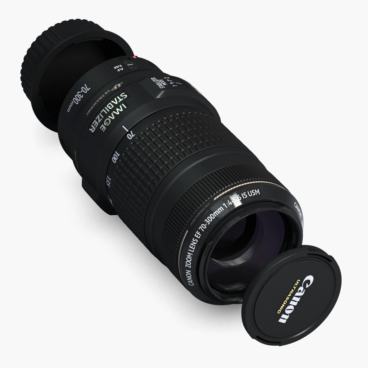 3d 3ds lens canon ef object
