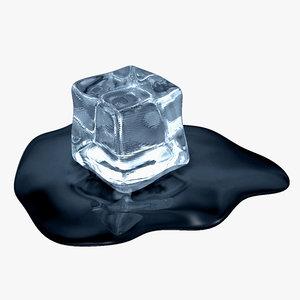 3d ice cube model