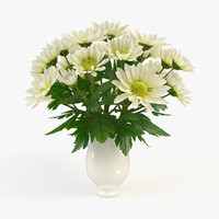 3d model vase chrysanthemum